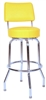 Swivel Restaurant Bar Stool w Back