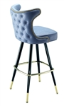 Studded Tufted Cowboy Stool