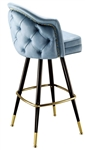 Rolled Channeled Bucket Bar Stool