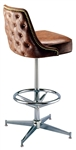 Studded Deluxe Pedestal Stool