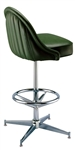 Exterior Channeled Deluxe Pedestal Stool