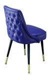 Rolled Tufted Back Club Chair