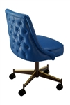 Rolled Tufted Swivel Chair