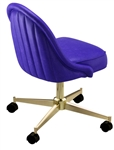 Rolled Channeled Swivel Chair