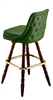 Rolled Tufted Colonial Bar Stool