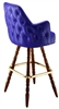 Tufted Wing Colonial Bar Stool
