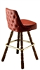 Tufted Mediterranean Bar Stool