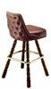Studded Tufted  Mediterranean Bar Stool