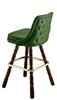 Rolled Tufted Mediterranean Bar Stool