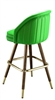 Inside Tufted  Mid-Century Bar Stool
