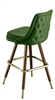Rolled Tufted Mid-Century Bar Stool