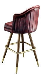 Deluxe Wide Mid-Century Bar Stool