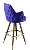 Tufted Wing Mid-Century Bar Stool