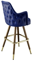 Deluxe Wing Mid-Century Bar Stool