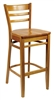 Traditional Ladderback Bar Stool