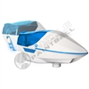 Virtue Paintball Spire Electronic Loader - White/Cyan