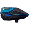 Virtue Paintball Spire Electronic Loader - Gloss Graphite/Cyan w/ Crown 2.5