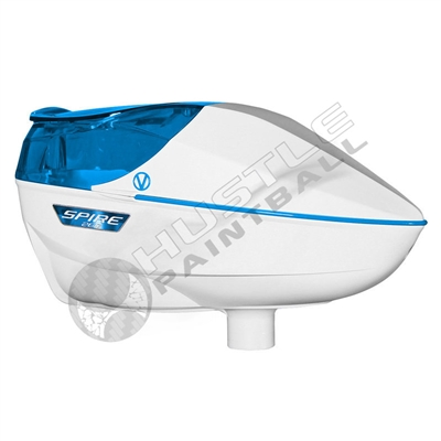 Virtue Paintball Spire 260 Electronic Loader - White/Cyan