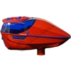 Virtue Paintball Spire Electronic Loader - Gloss Red/Blue w/ Crown 2.5