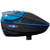 Virtue Paintball Spire 260 Electronic Loader - Gloss Graphite/Cyan w/ Crown 2.5