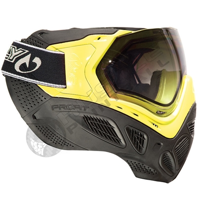 Sly Equipment Profit Paintball Mask - Black/Neon Yellow