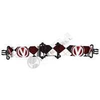Virtue Paintball VIO Goggle Strap - Argyle Red