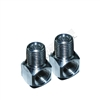 Hustle Paintball Braided Elbow Fitting 90 Degree (2 Pack) - Nickel