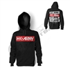 HK Army Pullover Hoodie - Posted - Black/Red