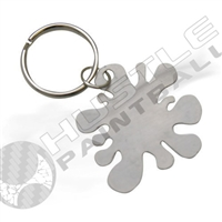 Rufus Dawg Paintball Splat Key Chain - Stainless Steel