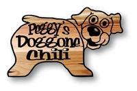 CUSTOM  PERSONALIZED  WOODEN DOG SIGN