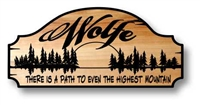 Carved Wooden Outdoor Estate Welcome Sign for the Home, Lake House, Ranch, Farm or Cabin