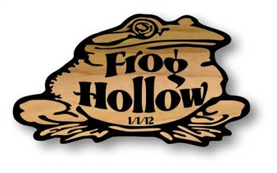 WOODEN CRITTER SIGN - FROG