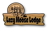 CUSTOM CARVED WOODEN LAZY MOOSE CARVED SIGNS