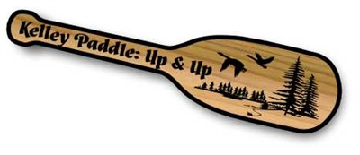 CARVED WOOD PADDLE CABIN SIGN