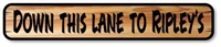 CUSTOM CARVED WOOD CABIN ROAD SIGN