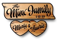Sweetheart Custom Engraved Family Name and Welcome Sign