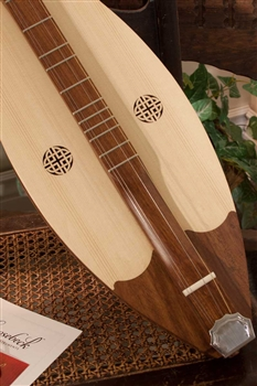 "Roosebeck ""Grace"" Mountain Dulcimer, 4 String, Knotwork"