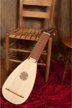 Roosebeck 8-Course Travel Lute, Rosewood