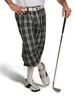 Black Check Golf Knickers for Men