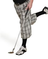 White Check Golf Knickers for Men
