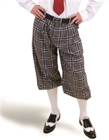 Grey Plaid Golf Knickers for Men