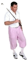 Pink Pinstripe Golf Knickers for Men