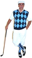 White Knicker Golf Knicker Outfit with Vest