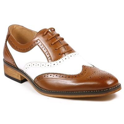 Mens Kings Oxford Wingtip Dress Golf Shoes