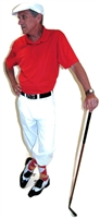 White and Red Golf Knickers Outfit with Red Gold White Socks