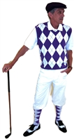 White and Purple Argyle Golf Knickers Outfit
