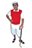 White Golf Knickers Solid Red Vest Argyle Socks