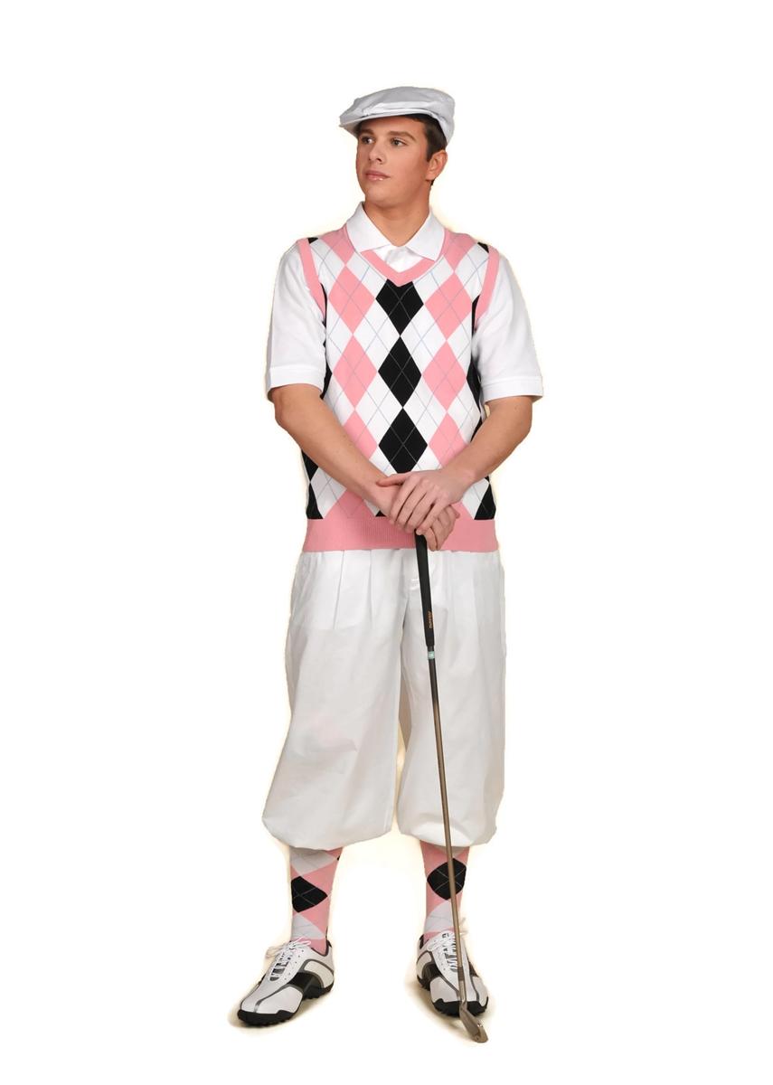 Mens Pink Golf Clothes
