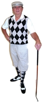 Khaki Golf Knickers Outfit by Kings Cross with Khaki Black White Argyle sweater and socks