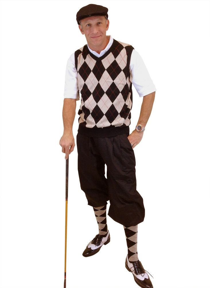 s golf black khaki overstitch w black